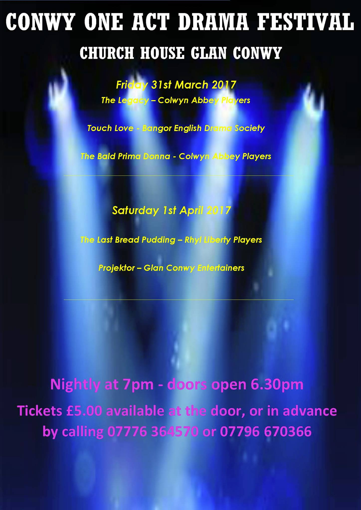 The 2017 Conwy One-Act Play Festival