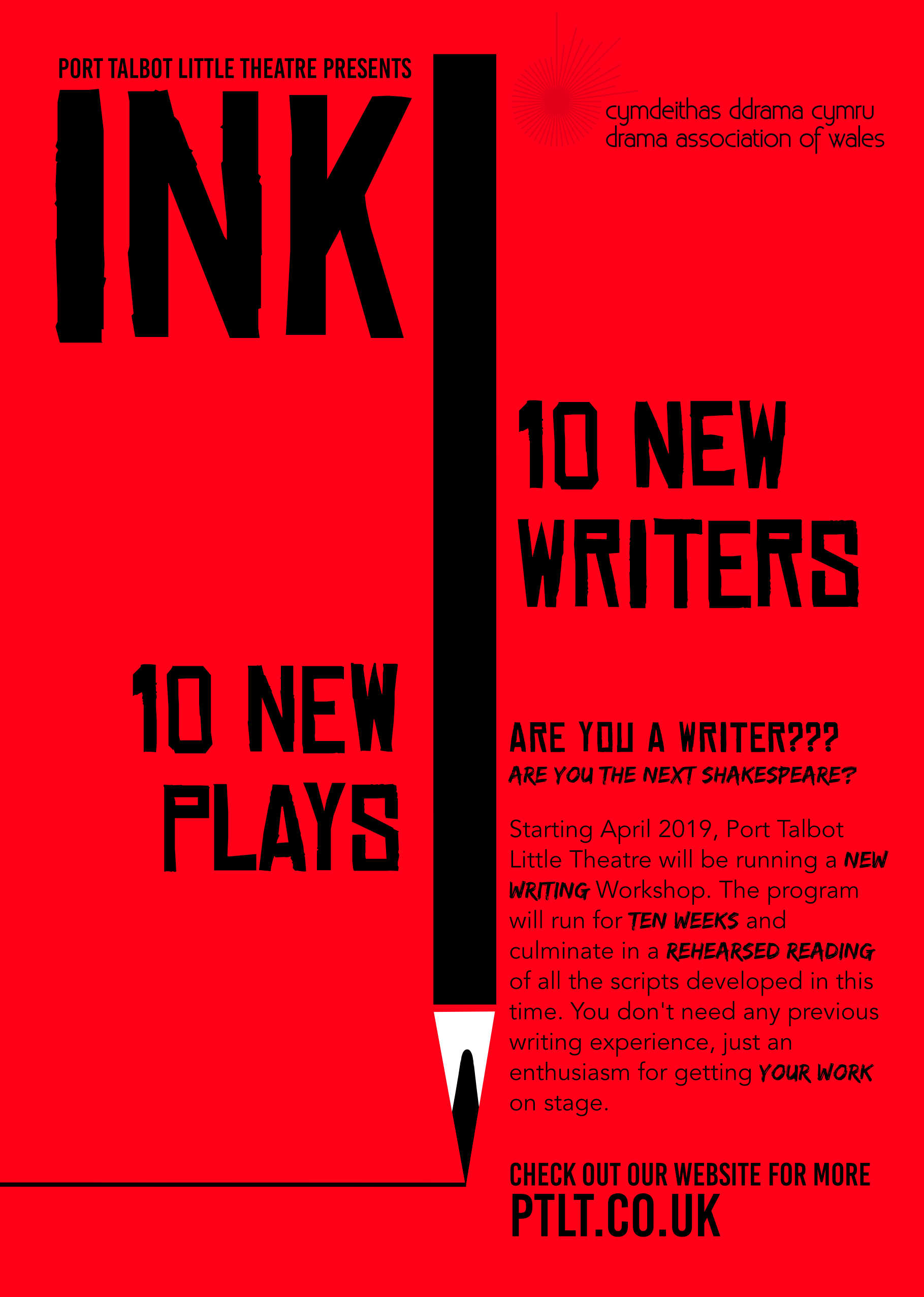 Port Talbot Little Theatre Presents INK