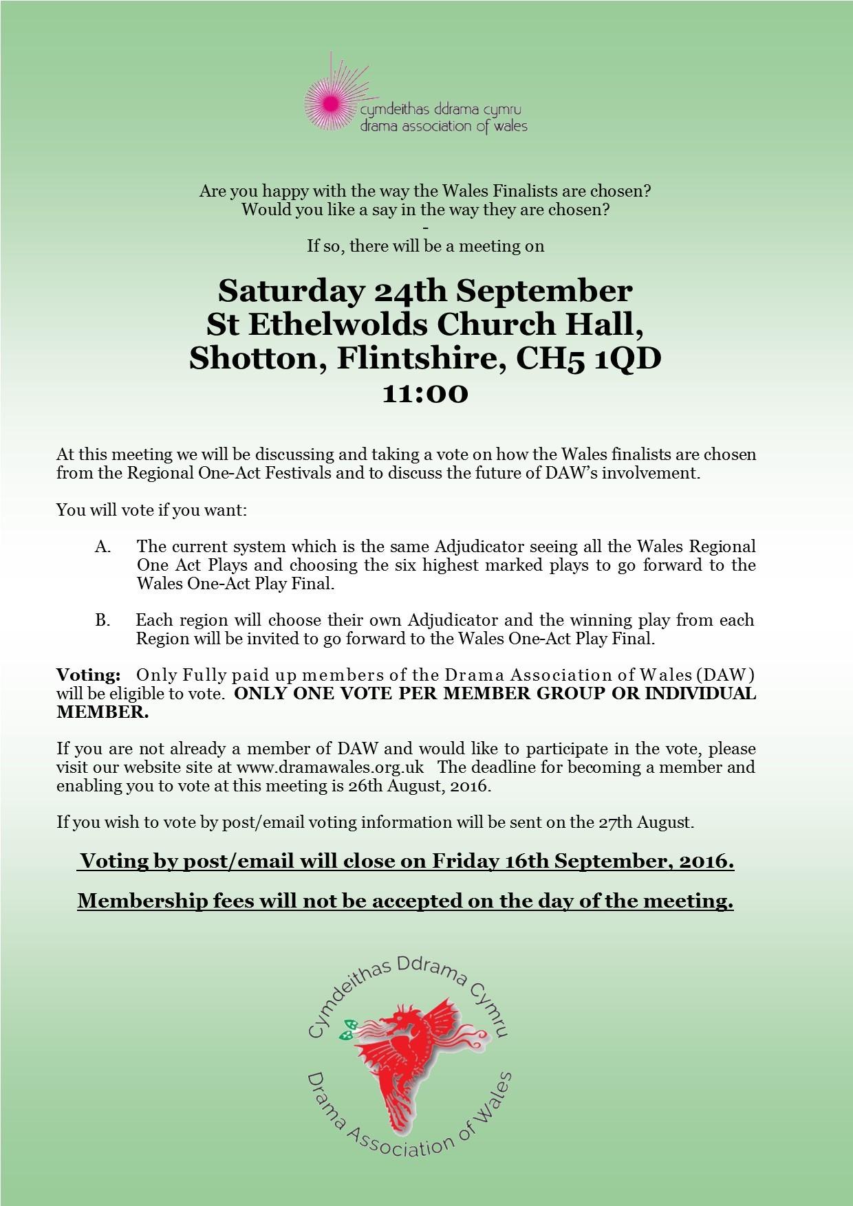 Festivals meeting 24th September 2016
